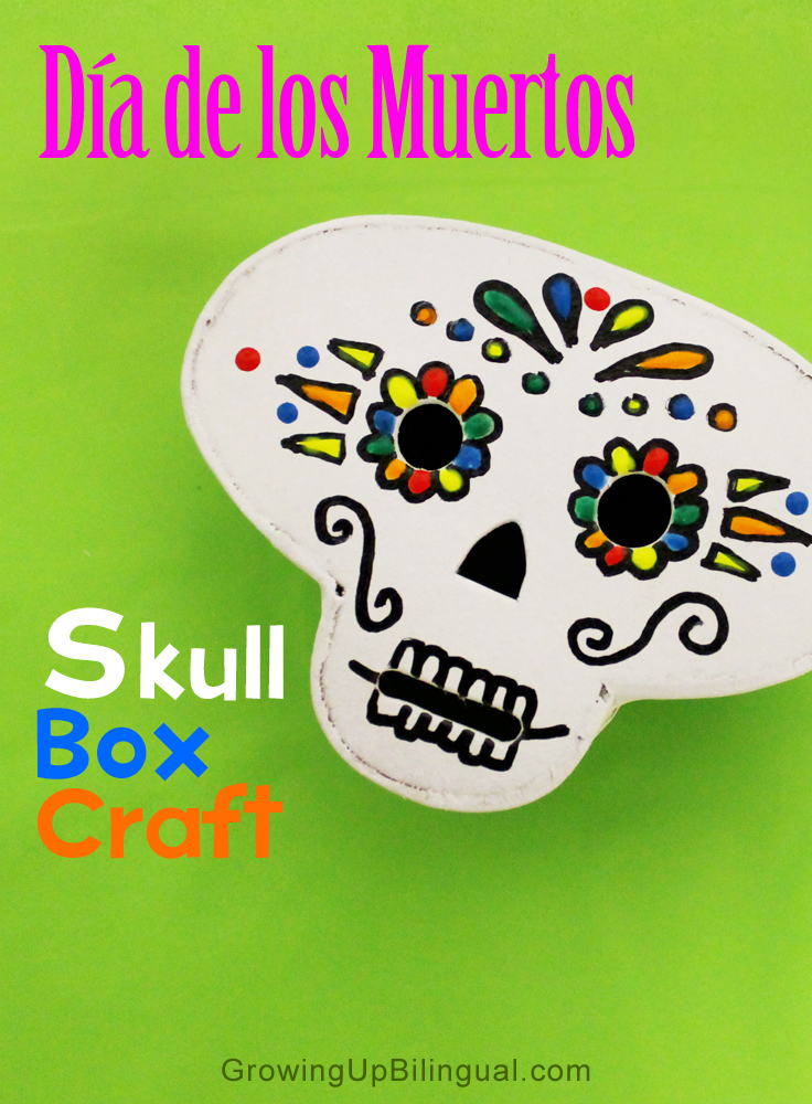 Dia de los Muertos skull box craft