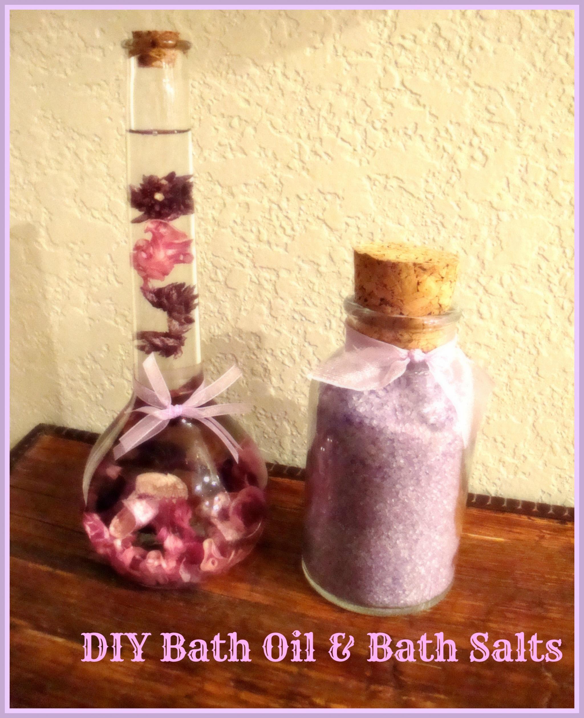 Bath oil and bath salts
