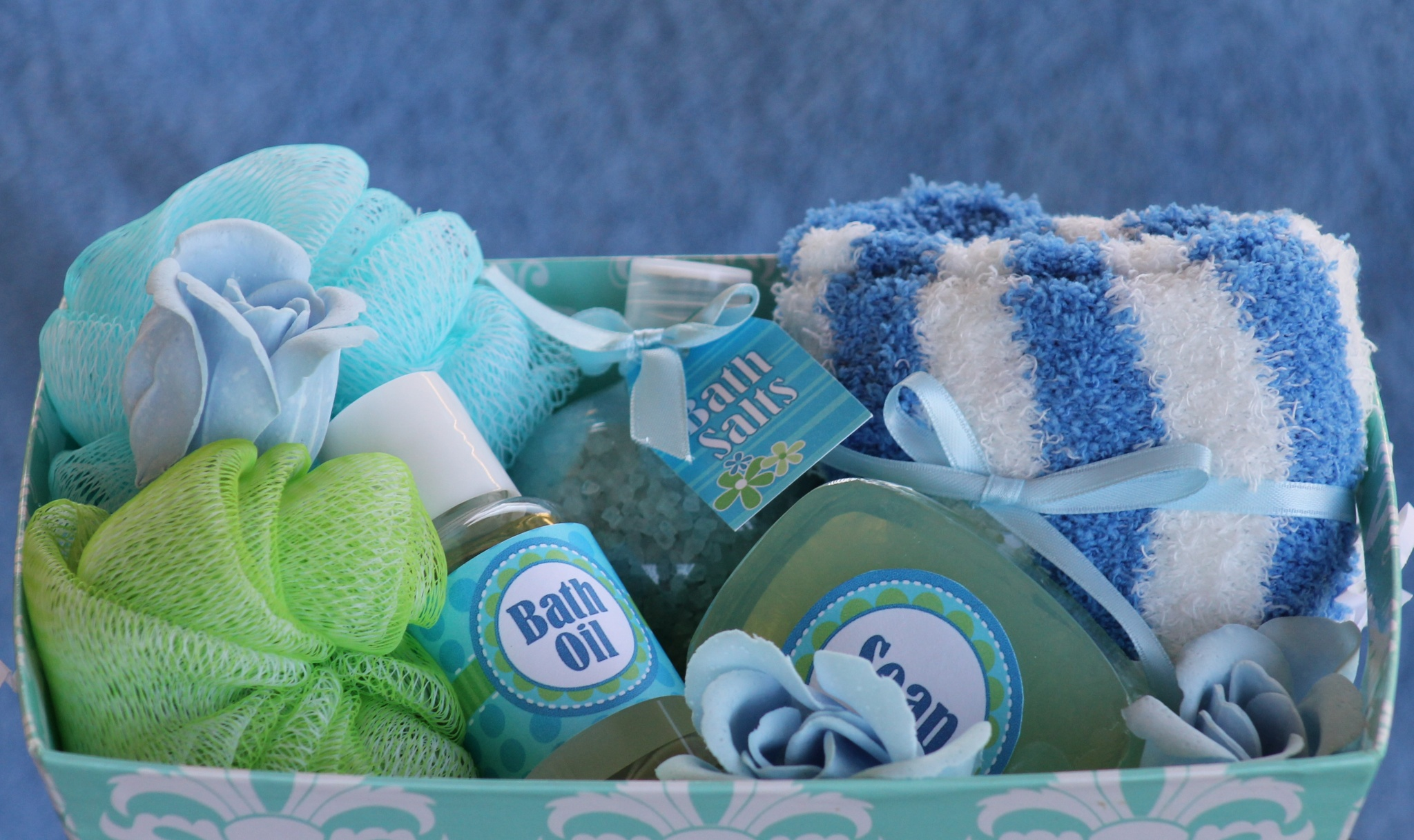 spa gift basket bath favors party