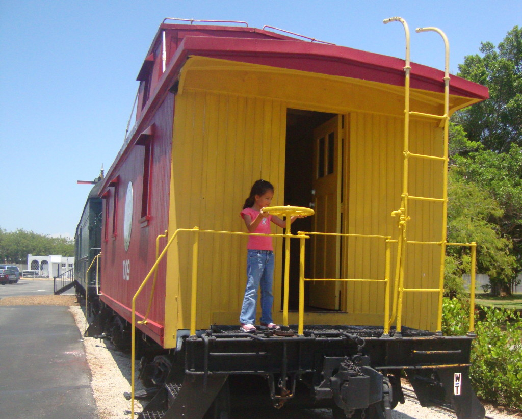 The caboose at the Naples Depot.