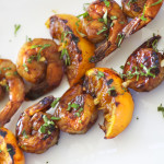 Tamarind citrus shrimp skewers