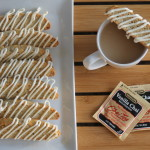 Chai Coconut White Chocolate Biscotti & Bigelow Vanilla Chai Latte