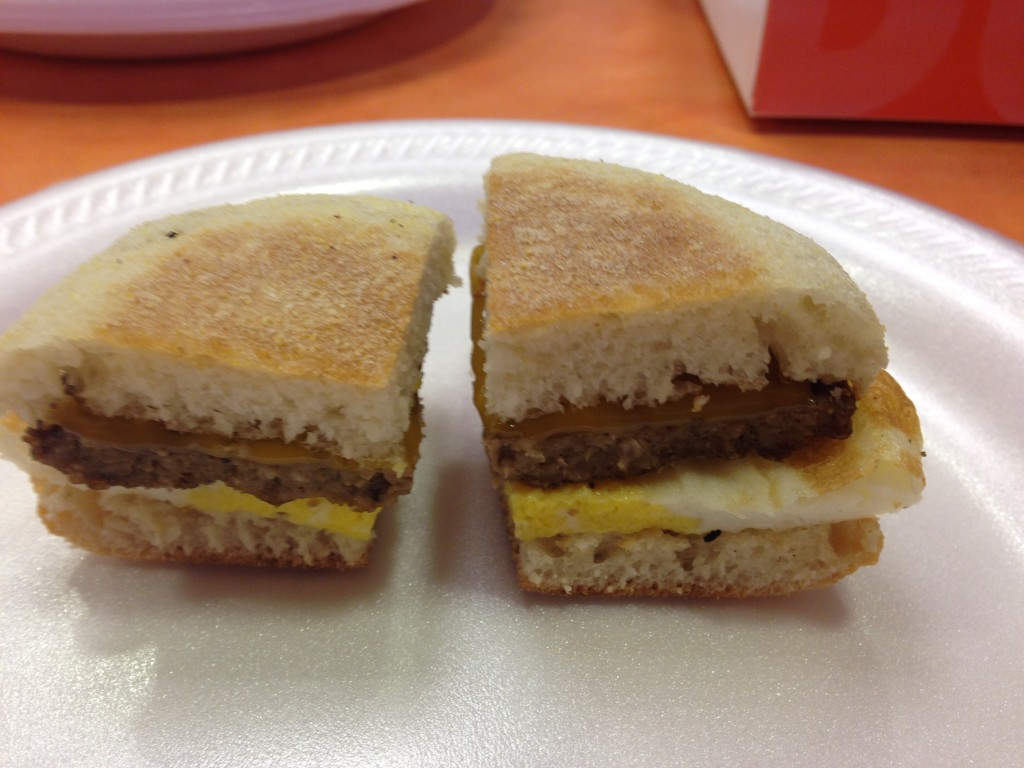 Turkey Sausage breakfast Sandwich