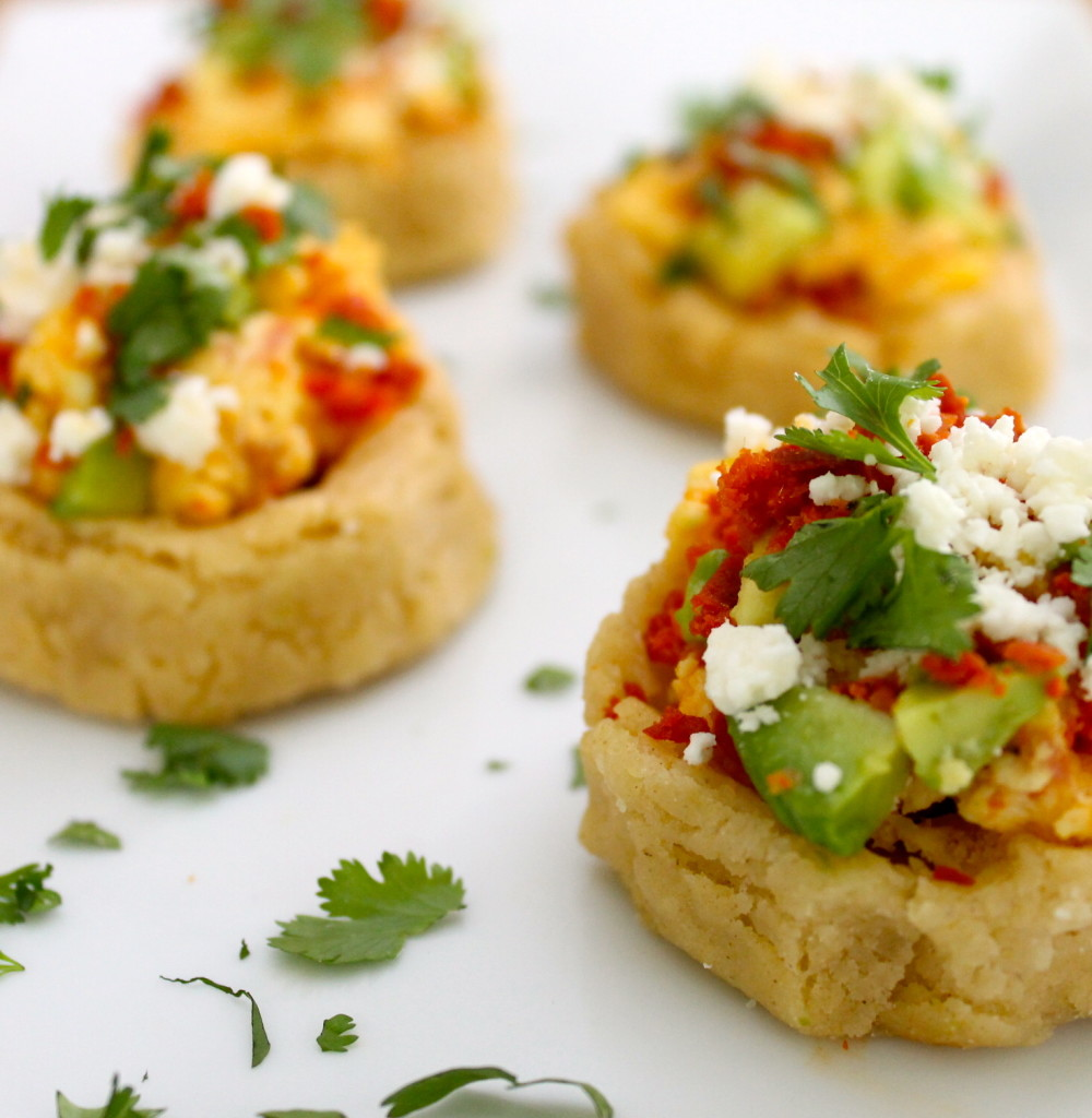 chorizo scrambled egg breakfast sopes