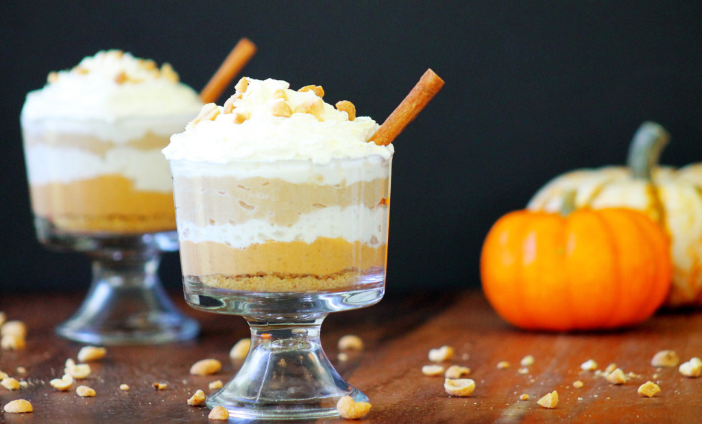 pumpkin and peanut butter cheesecake parfait