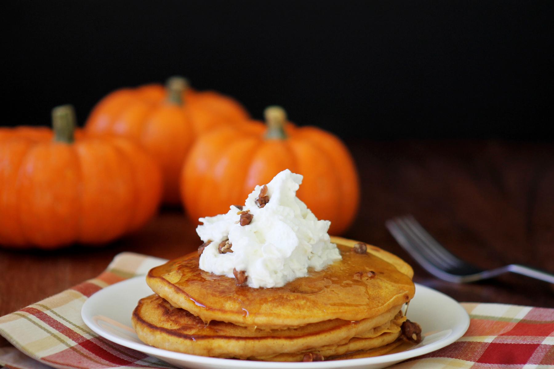 pumpkin dulce de leche pancakes
