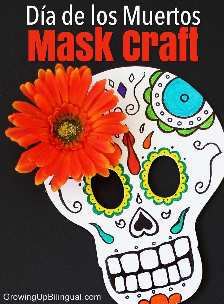 skull mask craft DIY Dia de los Muertos Day of the Dead