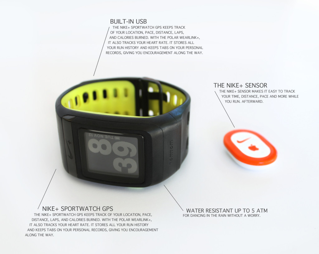 Nike SportsWatch with GPS and Nike+ Sensor