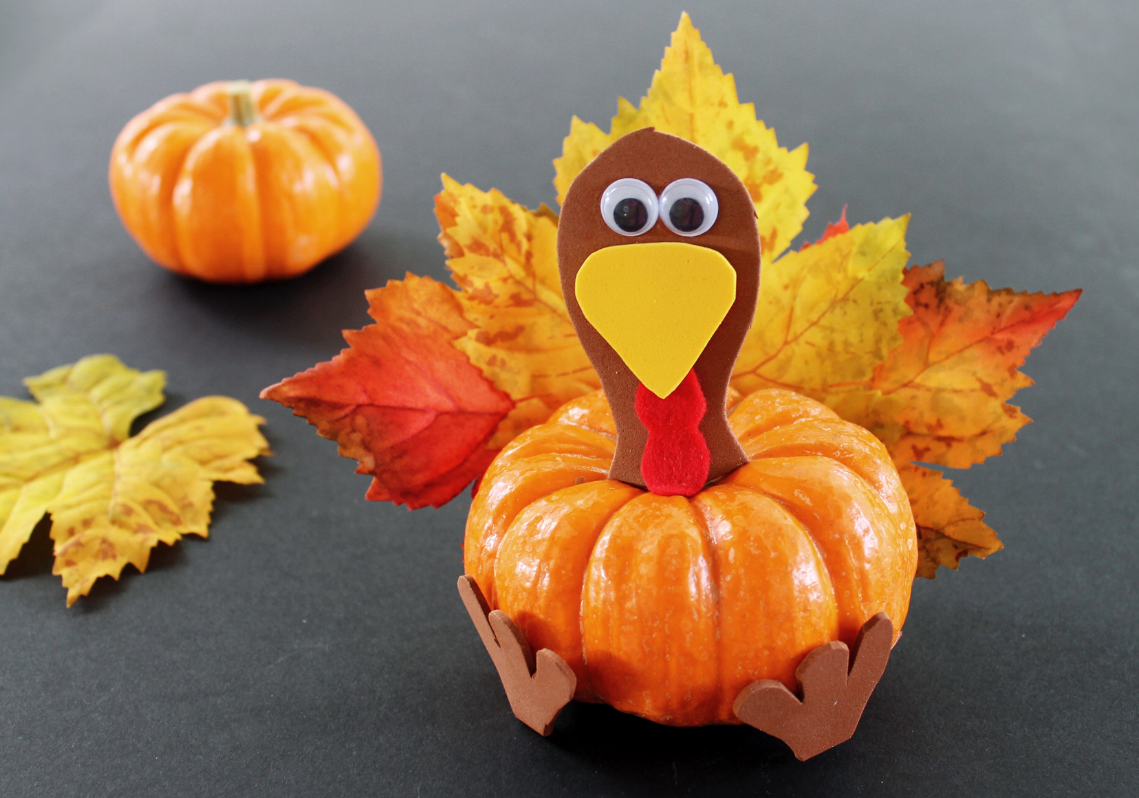 Pumpkin turkey thanksgiving craft for kids growing up