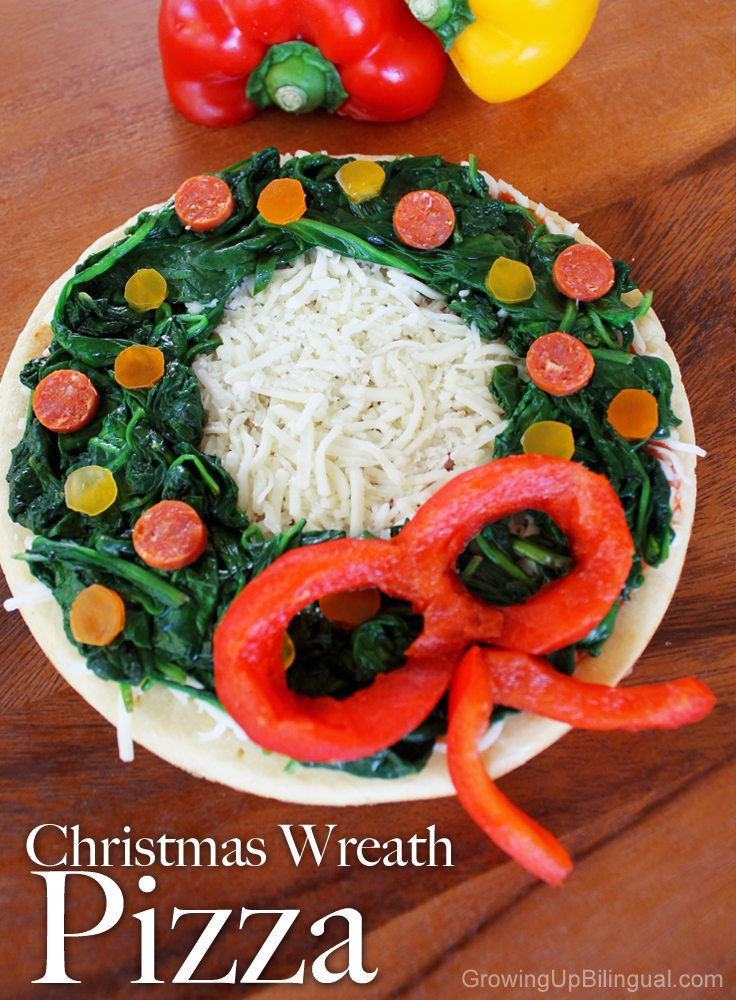 holiday wreath Christmas pizza