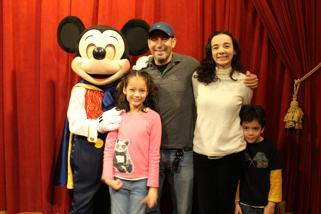 family with Mickey at Disney
