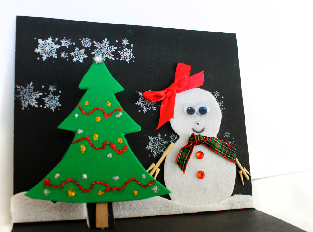 Easy christmas card craft for kids growing up bilingual for Christmas ideas for christmas cards