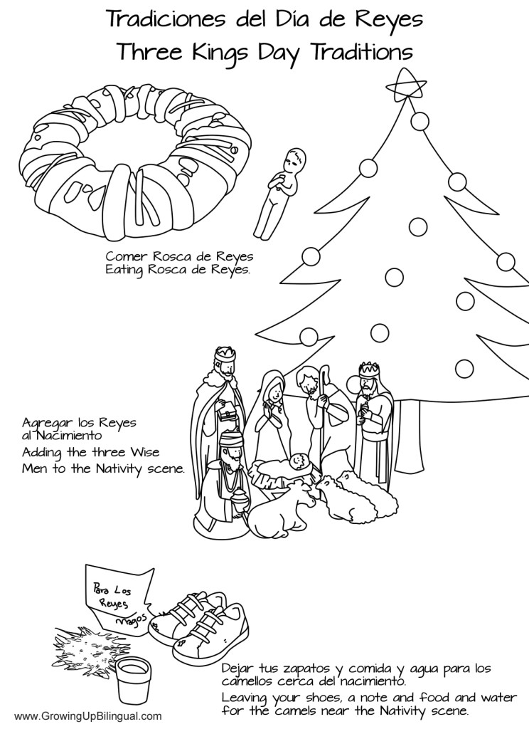 D a de Reyes Traditions Coloring