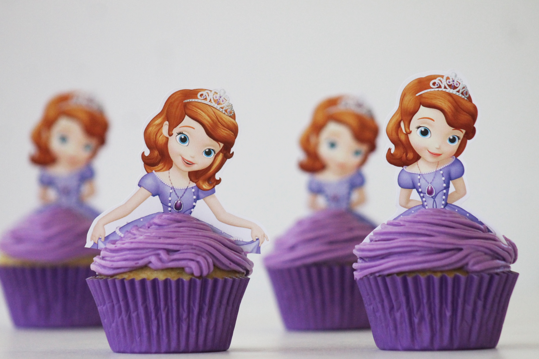 Sofia the First Princess Blueberry Cupcakes - Free ...