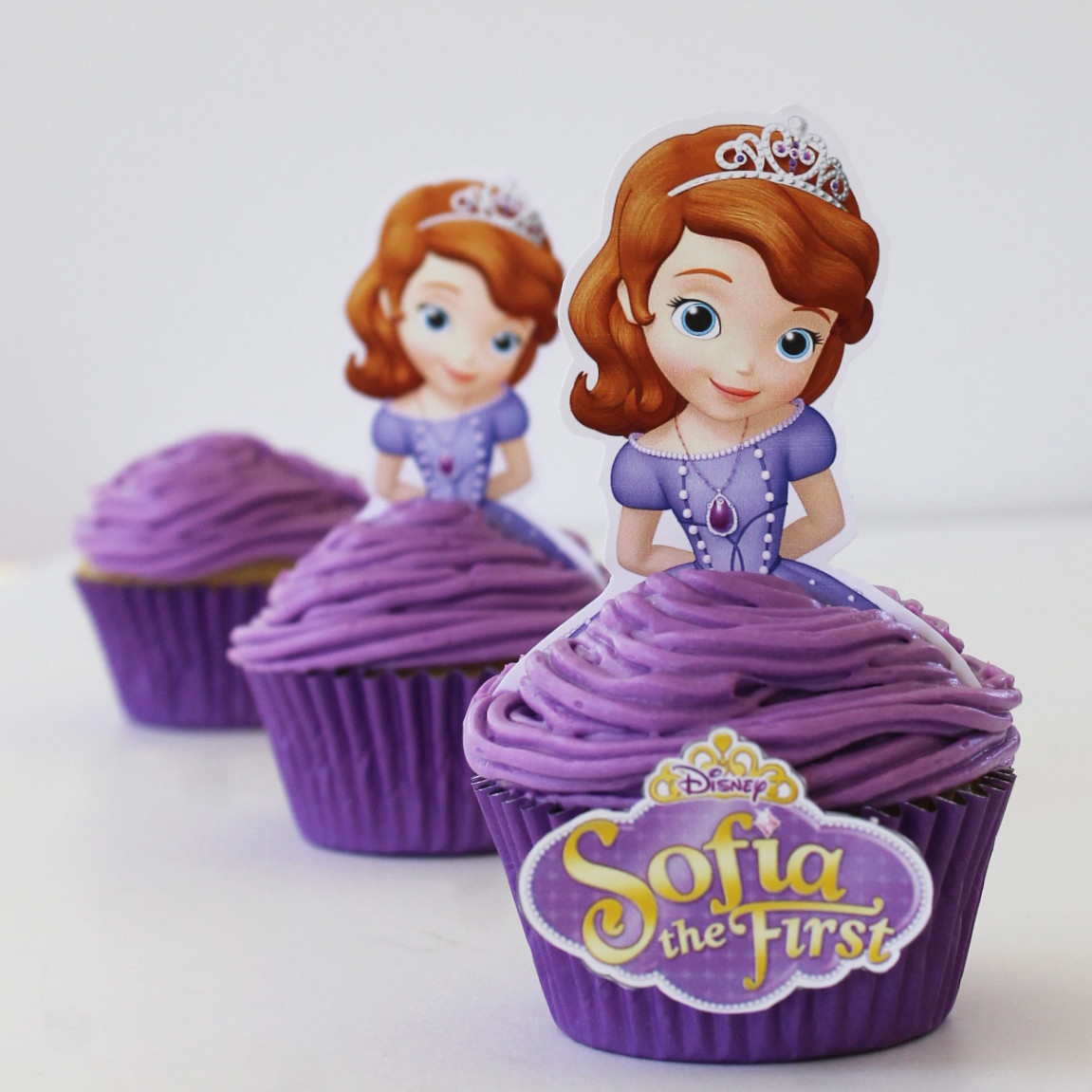 Sofia the First Princess Blueberry Cupcakes - Free Printables