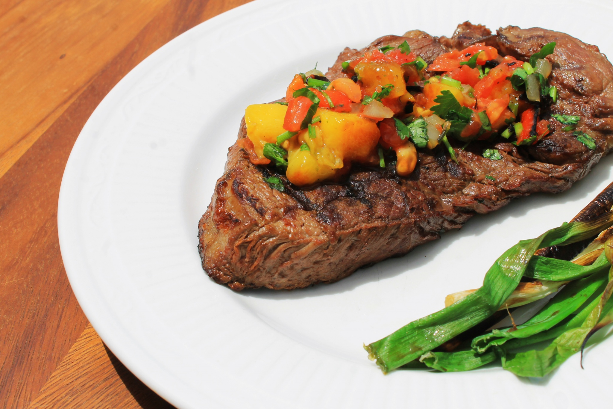 Steak and mango salsa