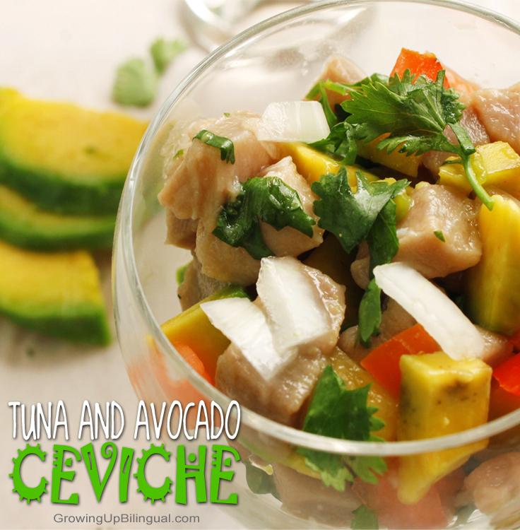 Tuna and Avocado Ceviche - Growing Up Bilingual