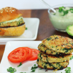 Tuna and quinoa patties and sliders with creamy avocado sauce.