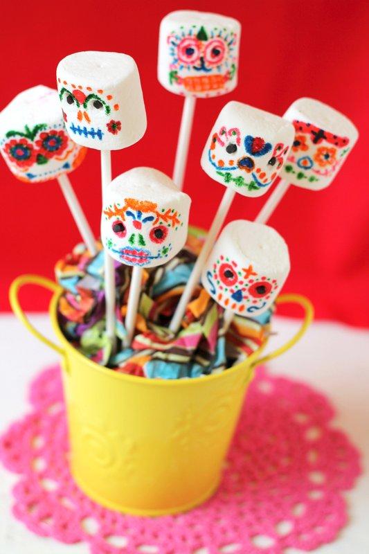 Day of the Dead marshmallow skulls