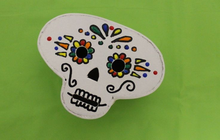 day of the dead skull box craft DIY