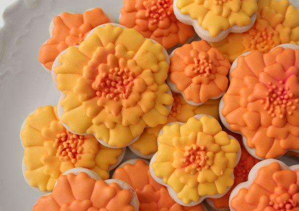 Marigold Cookies for Dia de los Muertos