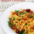Spicy Chorizo & Manchego Spagettin Carbonara