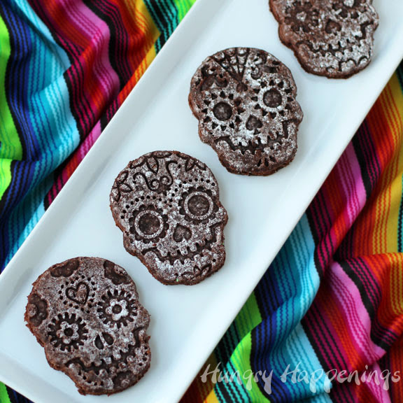 Sugar skull brownies for Day of the Dead