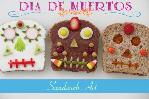 Dia de los Muertos Sandwich Art