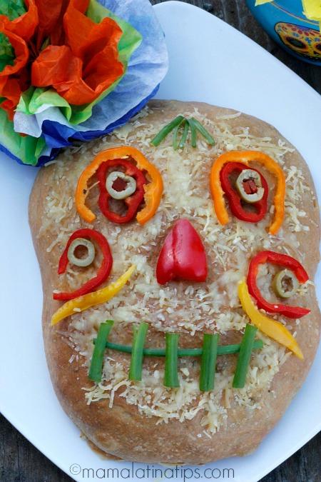 Day of the Dead Focaccia Cheese Bread