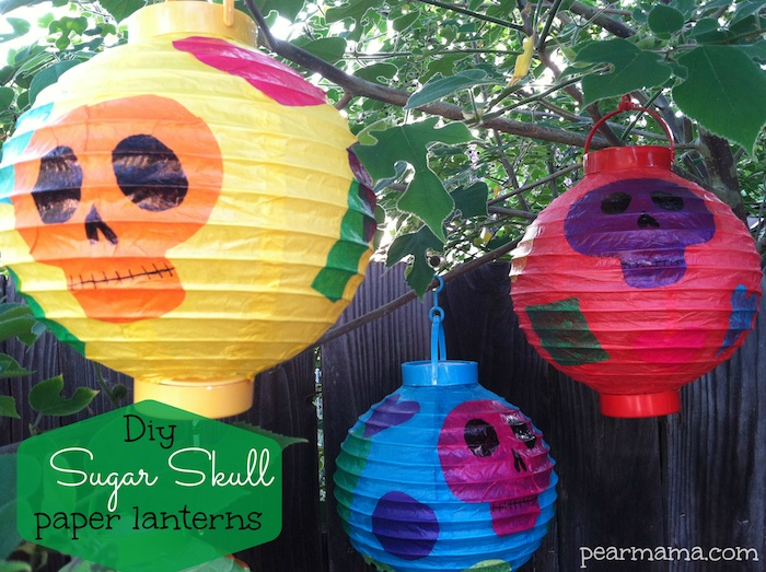Day of the Dead Sugar Skull paper lanterns