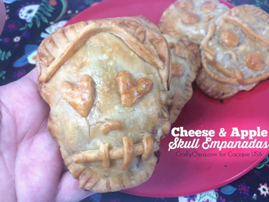 Skull empanadas for Day of the Dead
