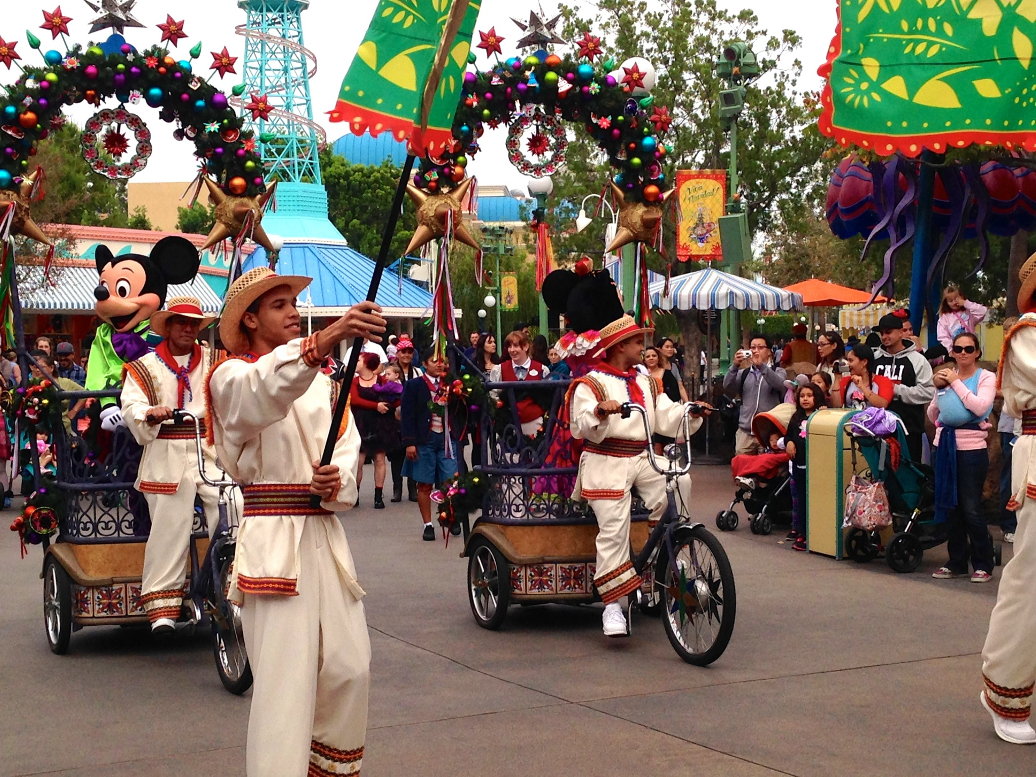 Mickey and Minnie at Disneyland Viva Navidad