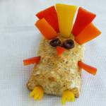 turkey food art sandwich