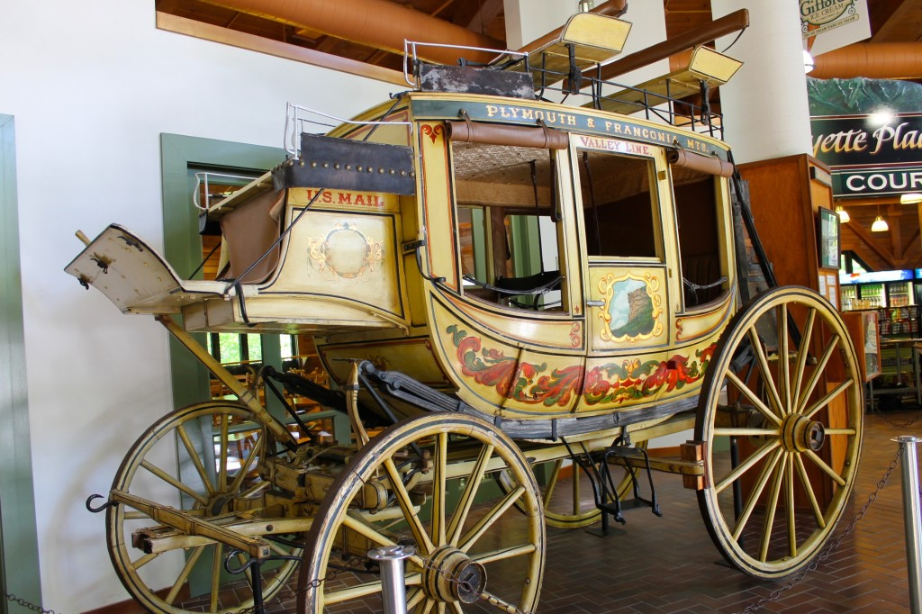 historic Concord Coach at Flume gorge visitor center