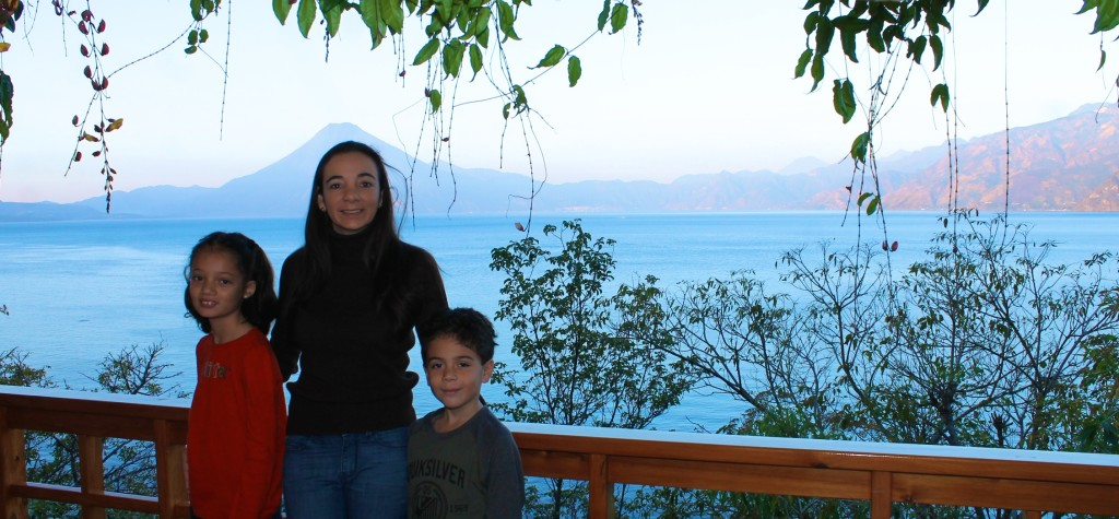 lake Atitlan view from the terrace at Villas B'alam Ya