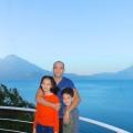Enjoying the view of the lake from the second level terrace at Villas Balam Ya, Atitlan Guatemala