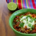 spicy chipotle and chorizo beef chili