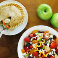 Cranberry Fruit Salad With Chicken Pot Pie