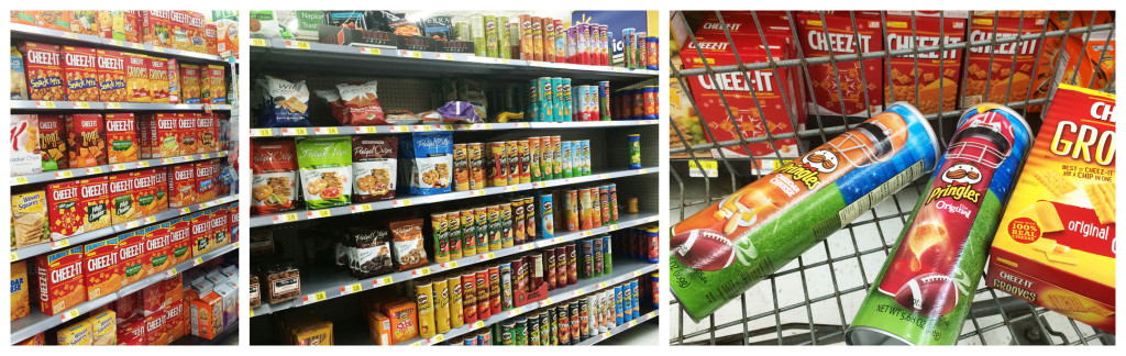 Pringles and Cheez-It at Walmart