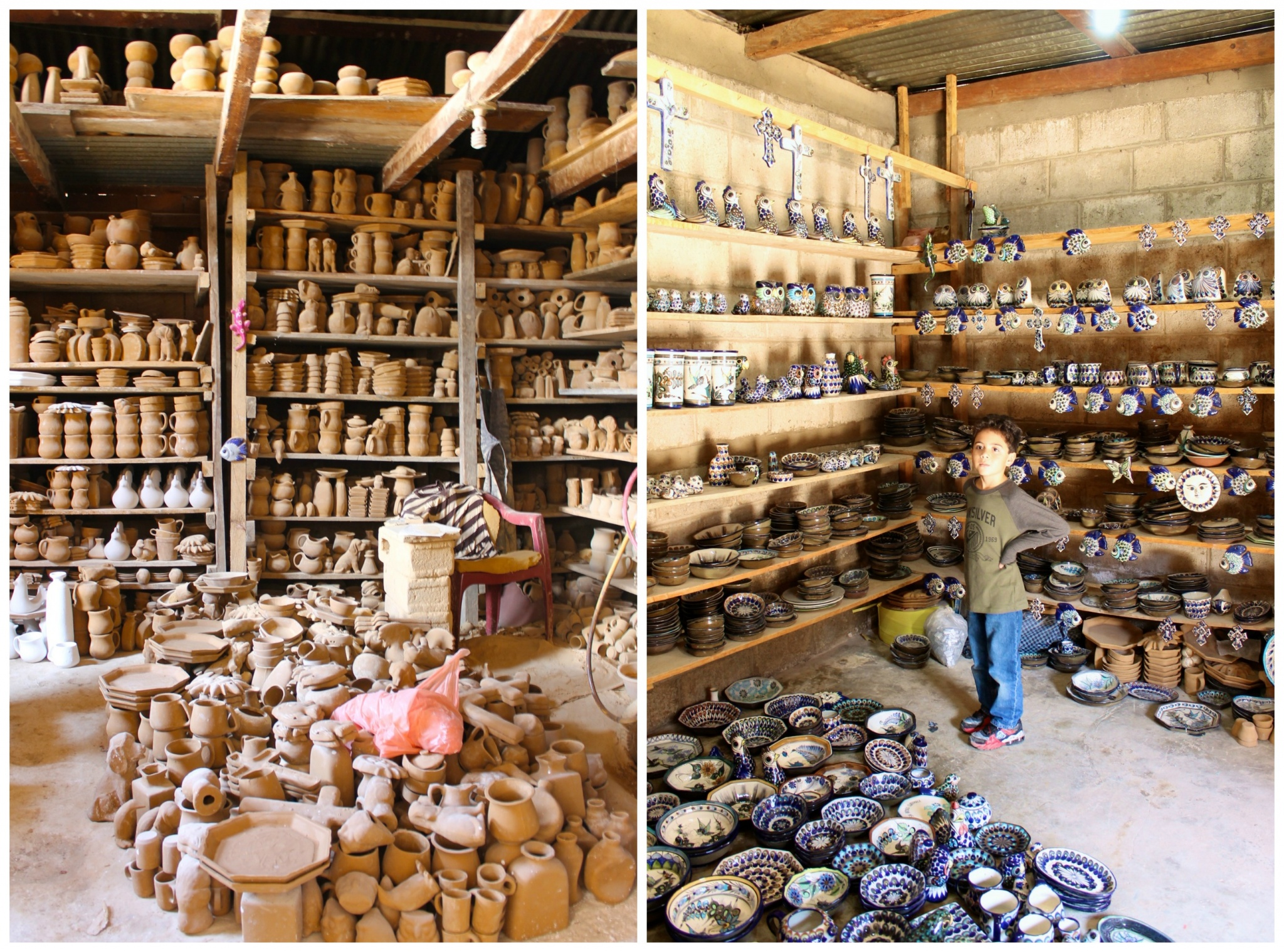 hand made pottery workshop in San Antonio Palopo