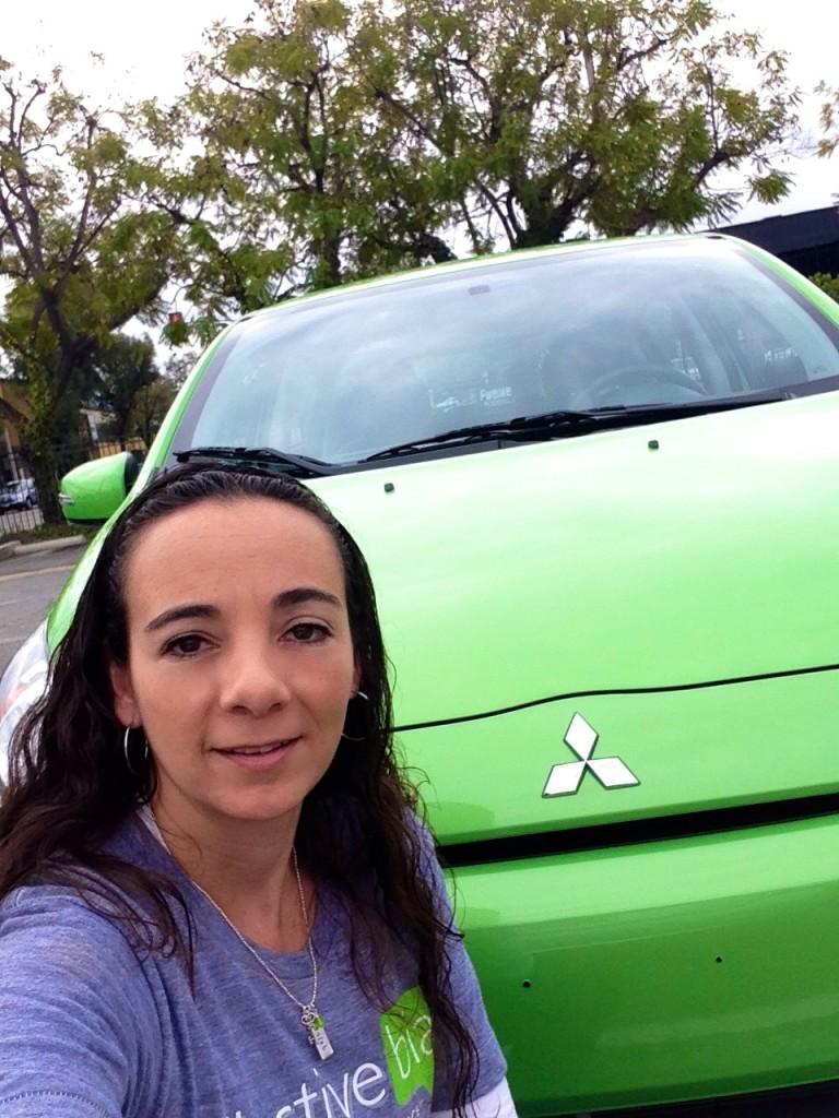 Mitsubishi Mirage in green