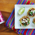 Carnita sopes with cherry coke
