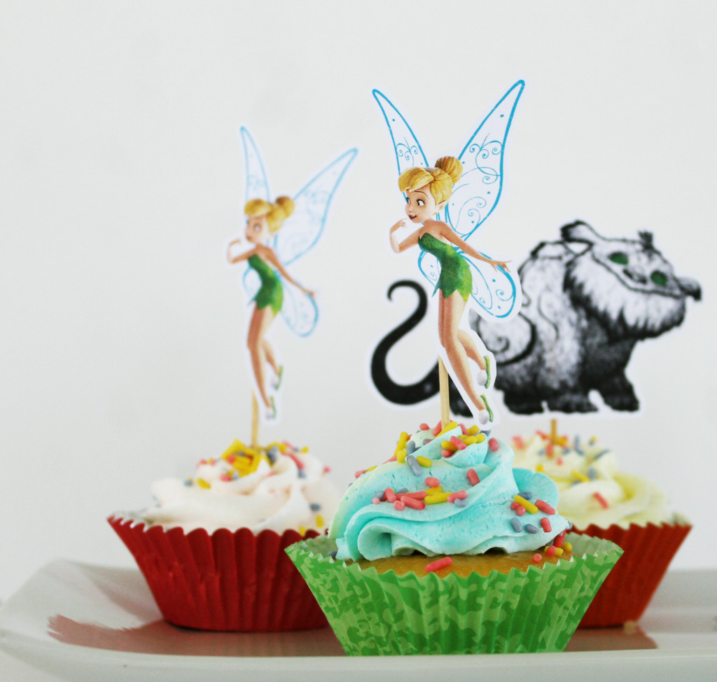 Tinker Bell and the Neverbeast cupcakes