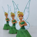 Tinker Bell Cupcakes with free printables for fairy party