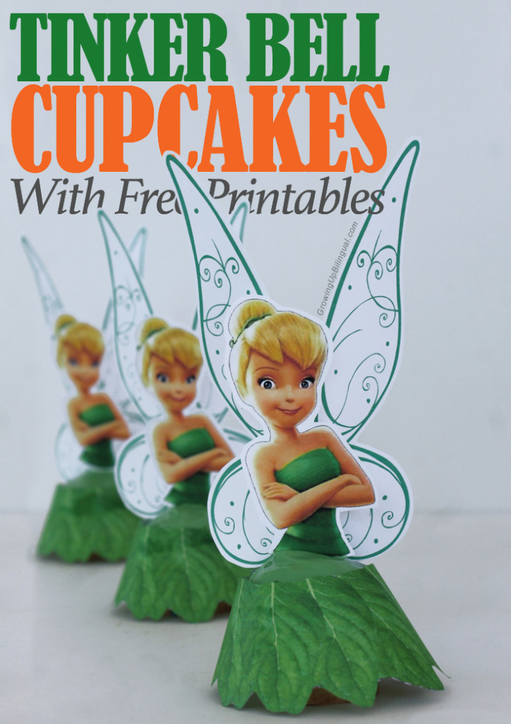 Tinker Bell cupcakes free printables