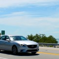 driving on the Overseas Highway on the Mazda 6