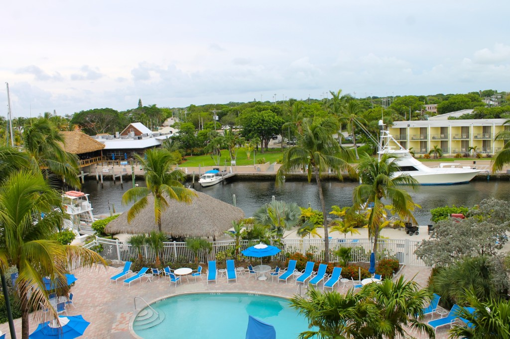 View from our room at the Courtyard Key Largo