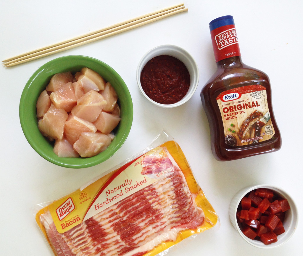 spicy guava BBQ chicken skewers ingredients