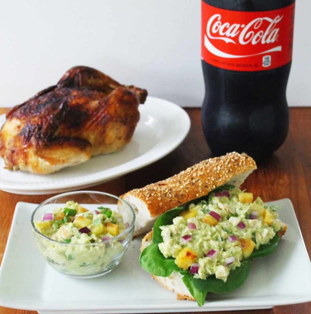 Easy avocado and pineapple chicken salad sandwich
