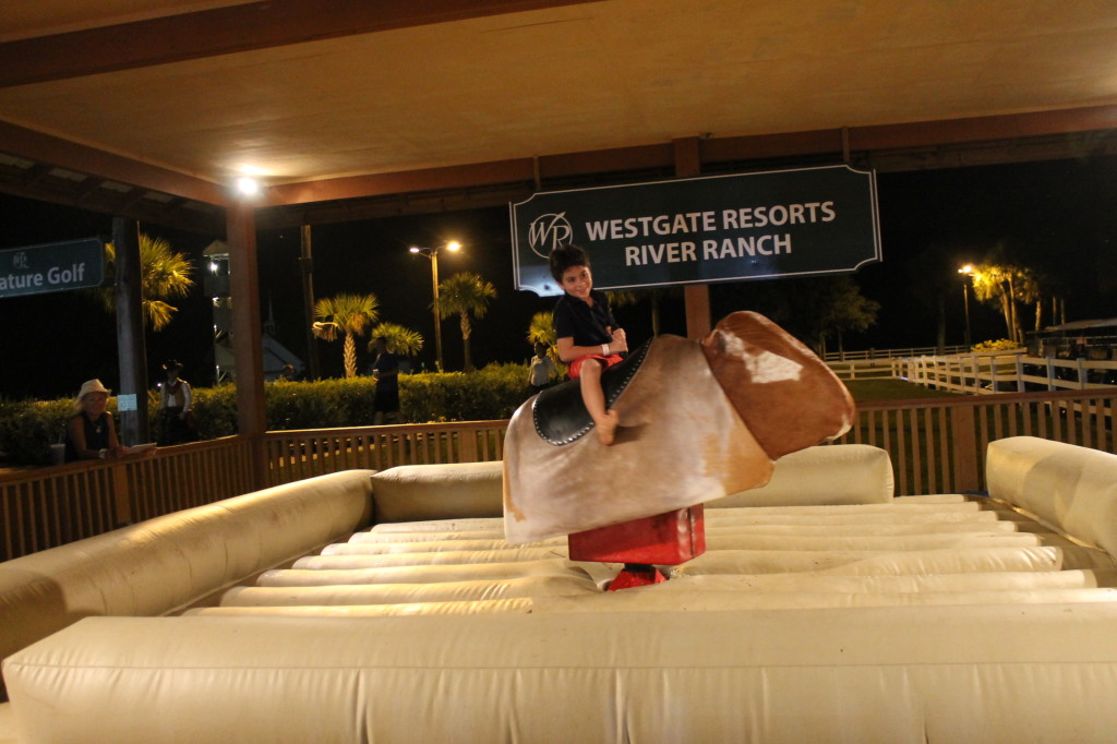 Mechanical Bull Riding at Westgate River Ranch